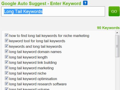 SEO Tools Long Tail Keywords